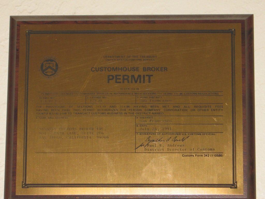 Broker Permit
